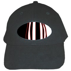 White, red and black lines Black Cap