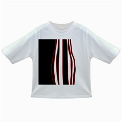 White, red and black lines Infant/Toddler T-Shirts