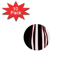 White, red and black lines 1  Mini Buttons (10 pack)