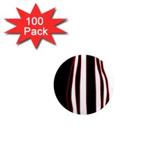 White, red and black lines 1  Mini Magnets (100 pack)