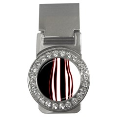 White, red and black lines Money Clips (CZ)
