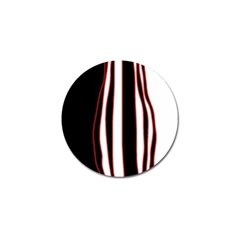 White, red and black lines Golf Ball Marker
