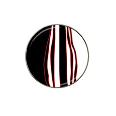 White, red and black lines Hat Clip Ball Marker (4 pack)