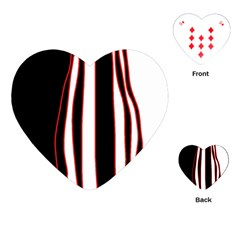 White, red and black lines Playing Cards (Heart)