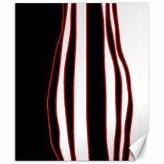 White, red and black lines Canvas 20  x 24