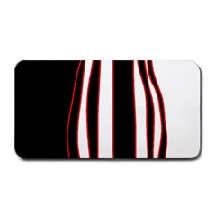 White, red and black lines Medium Bar Mats