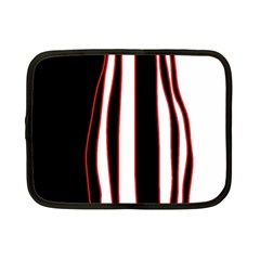 White, red and black lines Netbook Case (Small)