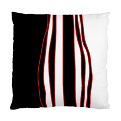 White, red and black lines Standard Cushion Case (Two Sides)