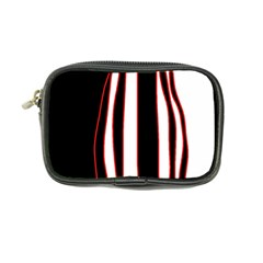 White, red and black lines Coin Purse