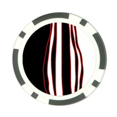White, red and black lines Poker Chip Card Guards (10 pack)