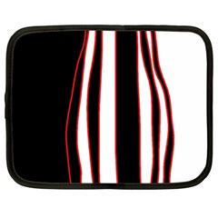 White, red and black lines Netbook Case (XXL)