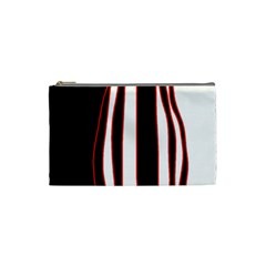 White, red and black lines Cosmetic Bag (Small)