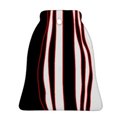 White, red and black lines Bell Ornament (2 Sides)