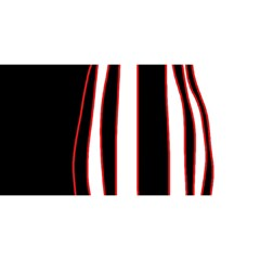 White, red and black lines YOU ARE INVITED 3D Greeting Card (8x4)