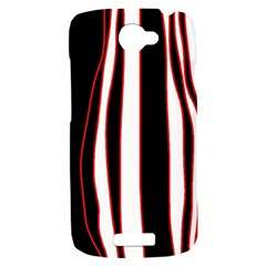 White, red and black lines HTC One S Hardshell Case