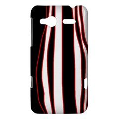 White, red and black lines HTC Radar Hardshell Case