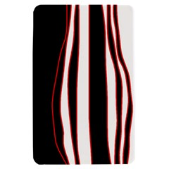White, red and black lines Kindle Fire (1st Gen) Hardshell Case