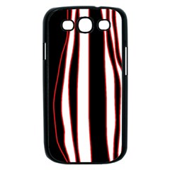 White, red and black lines Samsung Galaxy S III Case (Black)
