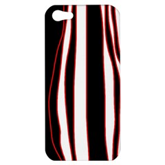 White, red and black lines Apple iPhone 5 Hardshell Case