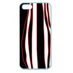White, red and black lines Apple Seamless iPhone 5 Case (Color)