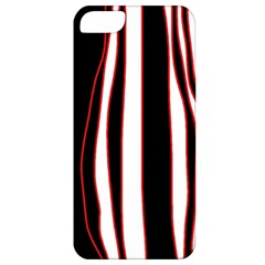 White, red and black lines Apple iPhone 5 Classic Hardshell Case