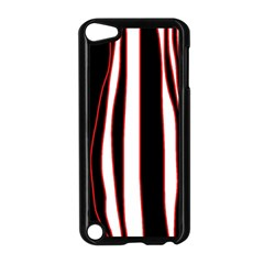 White, red and black lines Apple iPod Touch 5 Case (Black)