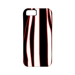 White, red and black lines Apple iPhone 5 Classic Hardshell Case (PC+Silicone)