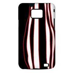 White, red and black lines Samsung Galaxy S II i9100 Hardshell Case (PC+Silicone)