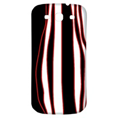 White, red and black lines Samsung Galaxy S3 S III Classic Hardshell Back Case