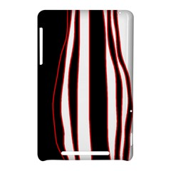 White, red and black lines Nexus 7 (2012)