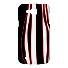 White, red and black lines Samsung Galaxy Premier I9260 Hardshell Case