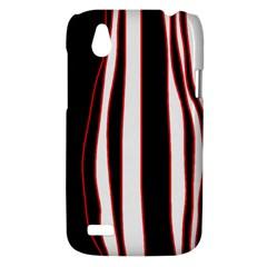 White, red and black lines HTC Desire V (T328W) Hardshell Case