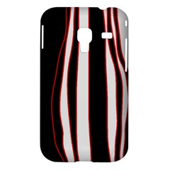 White, red and black lines Samsung Galaxy Ace Plus S7500 Hardshell Case