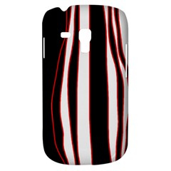 White, red and black lines Samsung Galaxy S3 MINI I8190 Hardshell Case