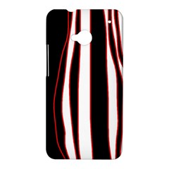 White, red and black lines HTC One M7 Hardshell Case