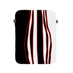 White, red and black lines Apple iPad 2/3/4 Protective Soft Cases