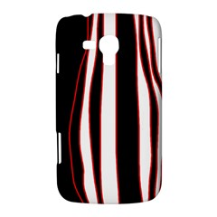 White, red and black lines Samsung Galaxy Duos I8262 Hardshell Case