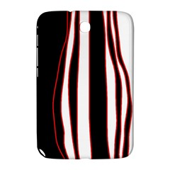 White, red and black lines Samsung Galaxy Note 8.0 N5100 Hardshell Case