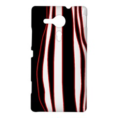 White, red and black lines Sony Xperia SP