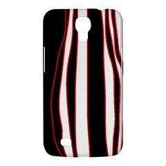 White, red and black lines Samsung Galaxy Mega 6.3  I9200 Hardshell Case