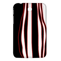 White, red and black lines Samsung Galaxy Tab 3 (7 ) P3200 Hardshell Case