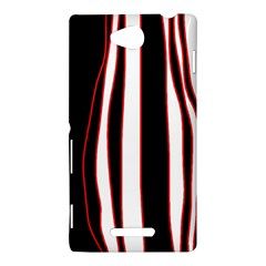 White, red and black lines Sony Xperia C (S39H)
