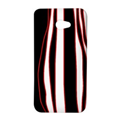 White, red and black lines HTC Butterfly S/HTC 9060 Hardshell Case