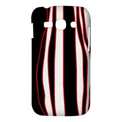 White, red and black lines Samsung Galaxy Ace 3 S7272 Hardshell Case