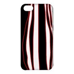 White, red and black lines Apple iPhone 5C Hardshell Case