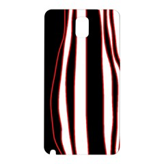 White, red and black lines Samsung Galaxy Note 3 N9005 Hardshell Back Case