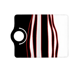 White, red and black lines Kindle Fire HD (2013) Flip 360 Case