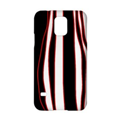 White, red and black lines Samsung Galaxy S5 Hardshell Case