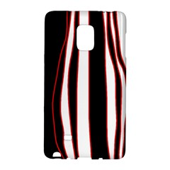White, red and black lines Galaxy Note Edge