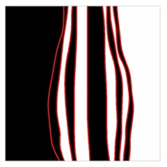 White, red and black lines Large Satin Scarf (Square)